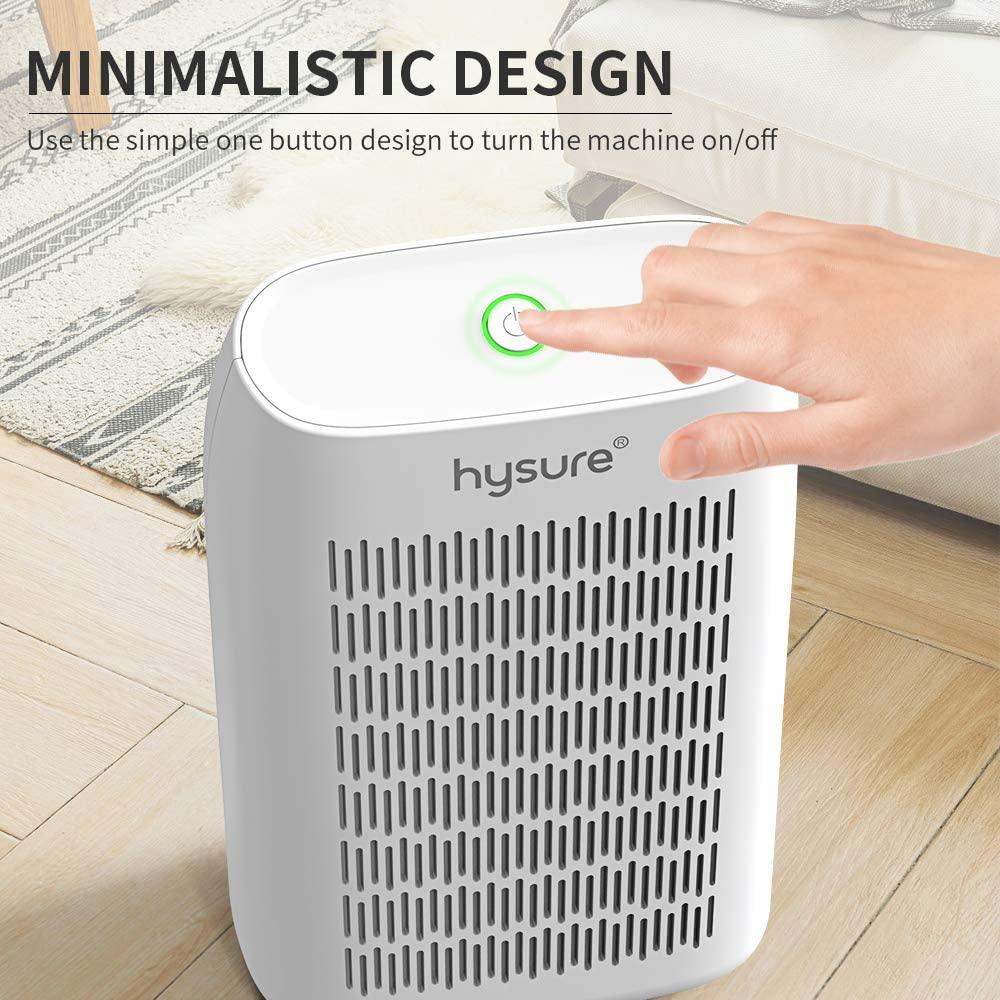 Hysure Dehumidifier,700ml Compact Deshumidificador 1200 Cubic Feet(215 sq ft) white