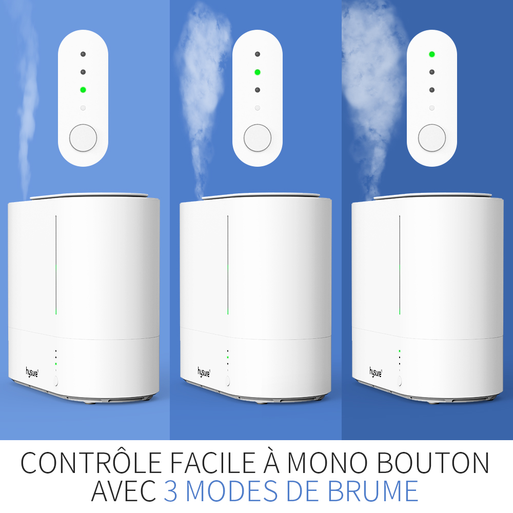 Hysure Cool Mist Air Humidifiers,, 2200ML Easy to Clean Water Tank